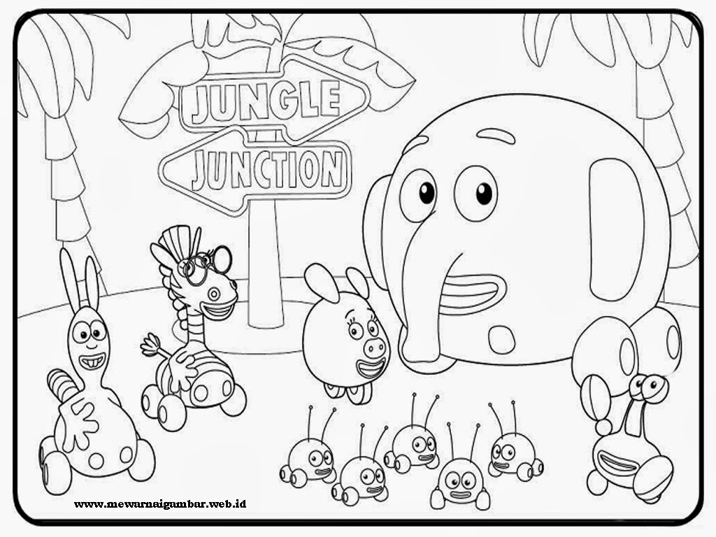 Judul : Mewarnai Gambar Jungle Junction