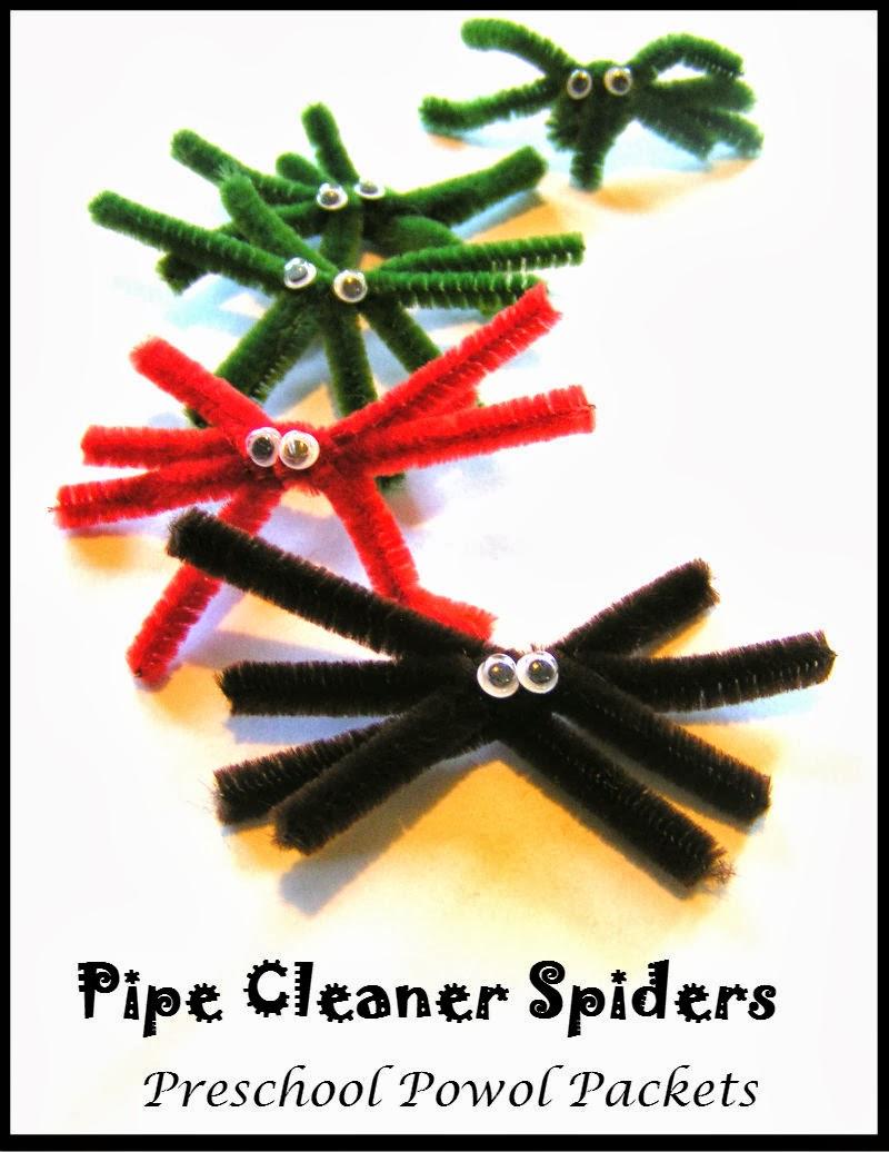 Pipe cleaner spider preschool craft preschool powol packets for Spider crafts for preschoolers
