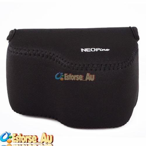 Neoprene Soft Camera Protect Case Bag Cover For Sony A6000 16-50mm Lens Black