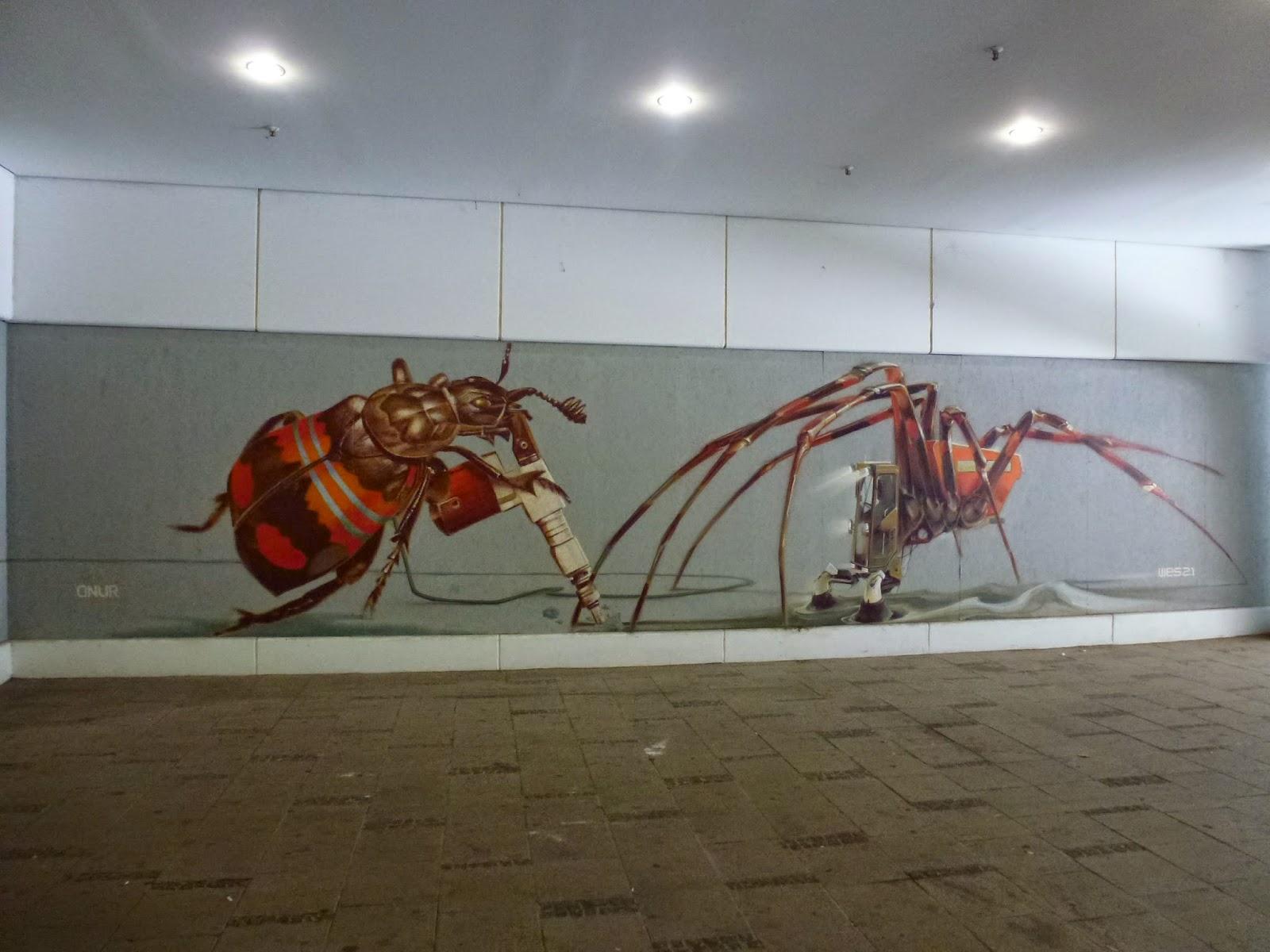 Streetart, XXXLutz; Theresienhöhe, Graffiti, Onur, Wes21