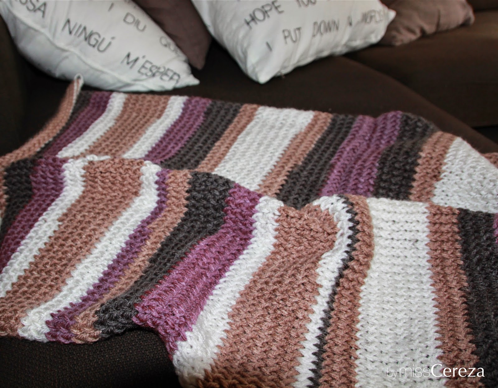 DIY manta de sofa