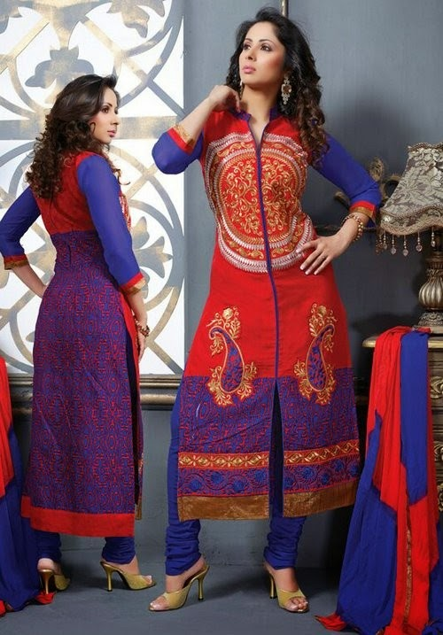http://mokshafashions.com/salwar-kameez/stylish-red-salwar-kameez-with-multicolored-back-and-embroidery-all-around.html