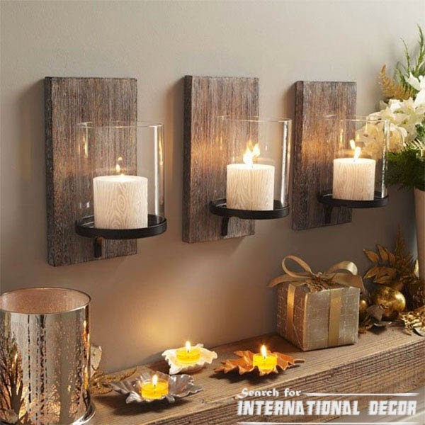 Creative recycle ideas, recycle ideas, wall candles holders,recycle wood