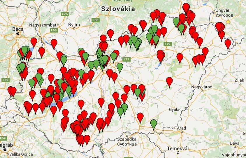 Kilátók térképe