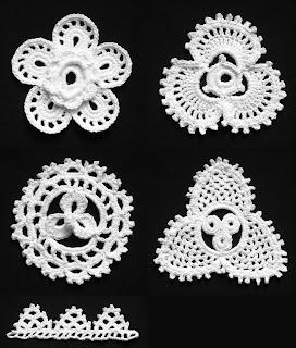 [Resim: 03.+Irish+Crochet+Lace+-+Flower,+Shamroc...amrock.jpg]