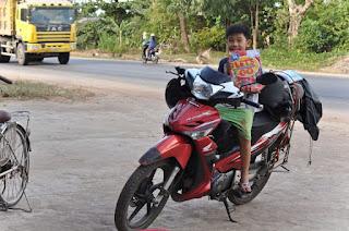 motorem przez Wietnam