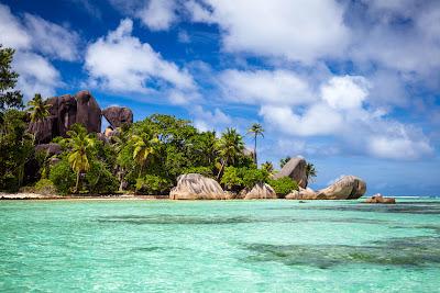 Seychellen - Anse Source d'Argent aus nördlicher Richtung