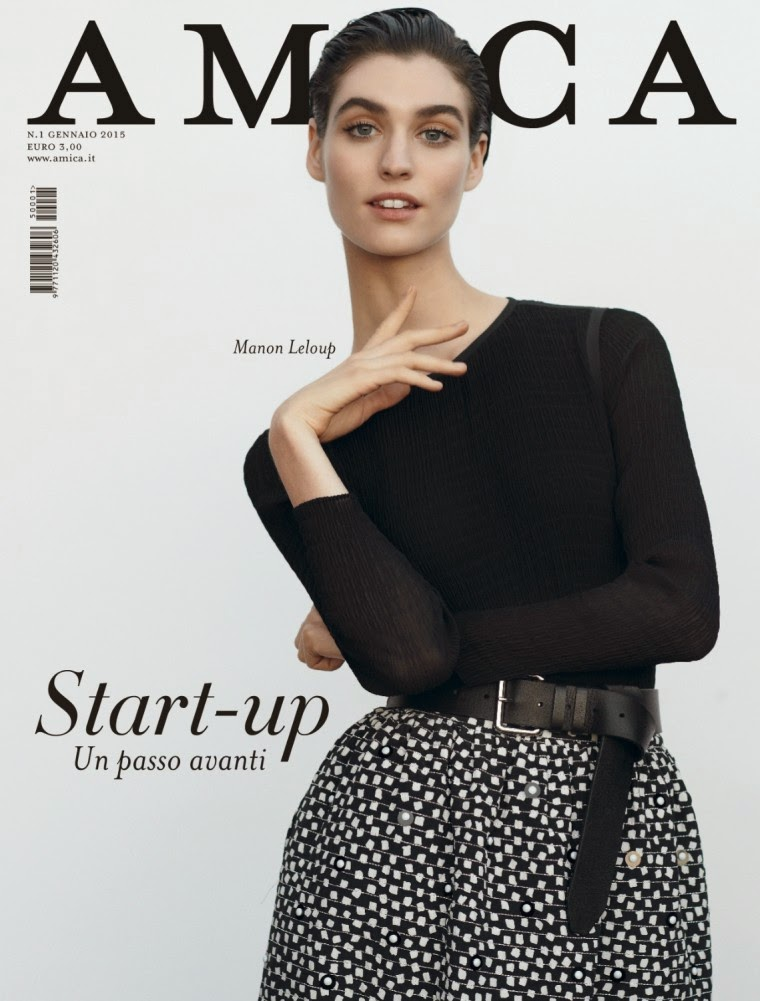 Manon Leloup by Thomas Schenk for Amica, January 2015