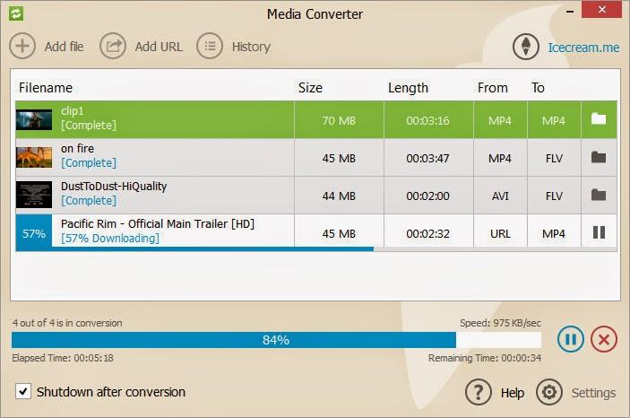 برنامج مجاني لتحويل جميع صيغ الوسائط المتعددة (الصوت والفيديو) بسهولة ICECREAM MEDIA CONVERTER 1.03