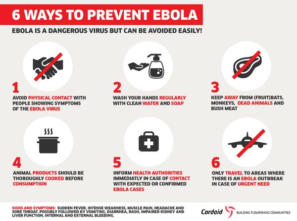 6 طرق للحماية و الوقاية من فيروس الايبولا
