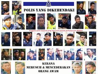 samseng polis
