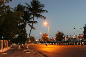Phan Thiết city in the evening