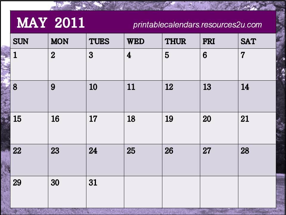 may calendar 2011 blank. lank calendar 2011 may.