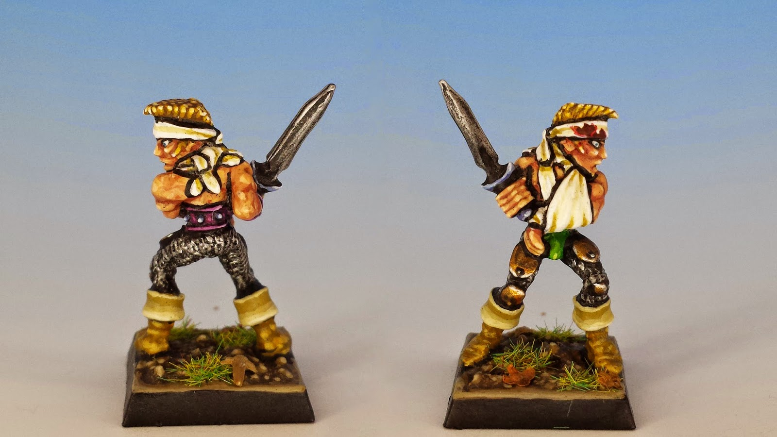 Elf Wardancer, Citadel Miniatures (1987, sculpted by Jes Goodwin, painted by M. Sullivan)