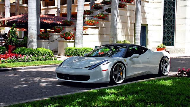 White Ferrari 458 Italia HD Wallpaper