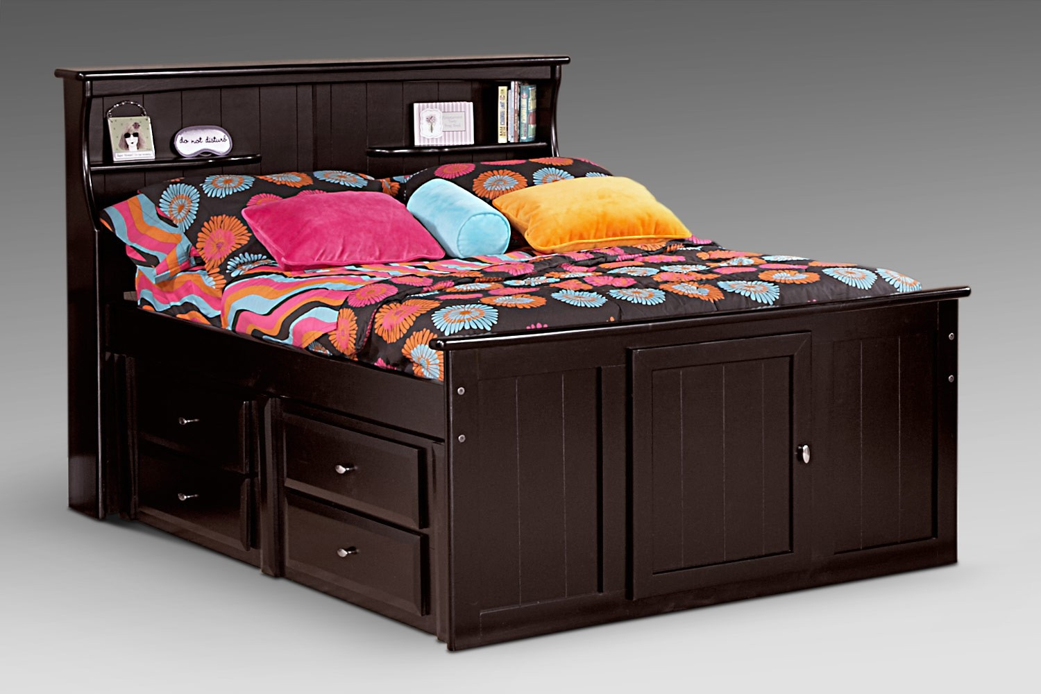 full bookcase storage bed types of furniture. Black Bedroom Furniture Sets. Home Design Ideas