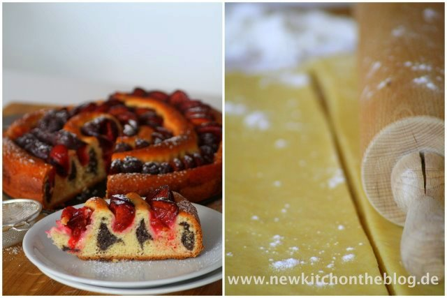 Mohnkuchen mit Zwetschgen