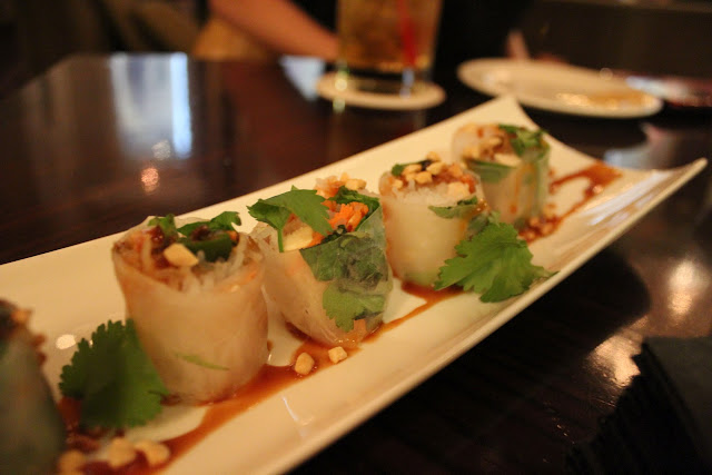 Fresh spring rolls at Bond, Boston, Mass.