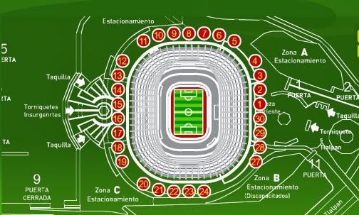 Tecnologia del estadio azteca for Puerta 1 estadio azteca