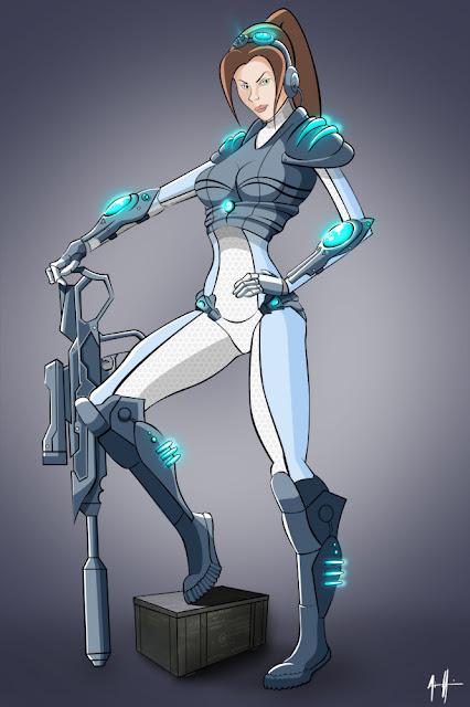 Starcraft - Sarah Kerrigan por Daviash