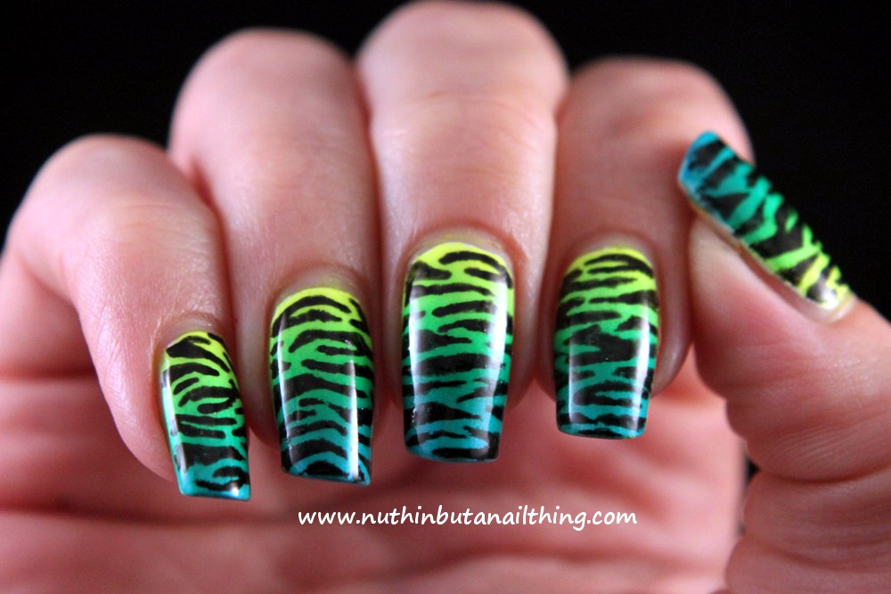Barry M Nail Art Pen Black : Nuthin but a nail thing animal print with barry m