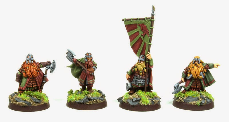 Lord of the Rings Dwarves - Dain, Gimli, Banner Dude and Balin