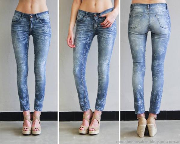 Moda pantalones de jeans marcas argentinas 2014 Sweet.