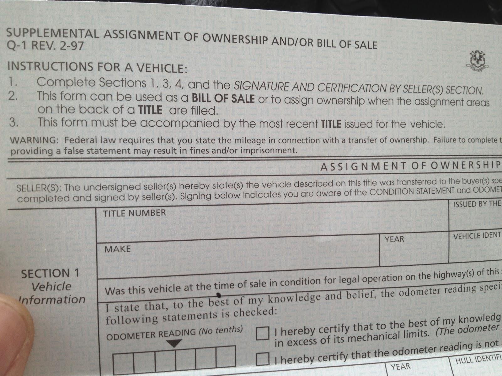 Ct Dmv Bill Of Sale >> Late Night Boat Trucking: The Brakes - New Jersey DMV