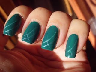 Manicura Verde brillante