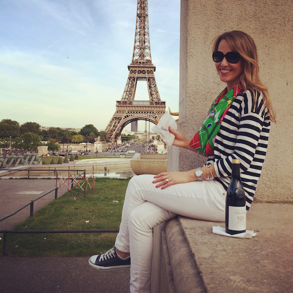Paris must-do: Get a crêpe near the Eiffel Tower, bring a bottle of wine, and stay until the sun goes down.