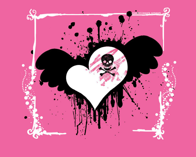 hearts and skulls backgrounds  See To World
