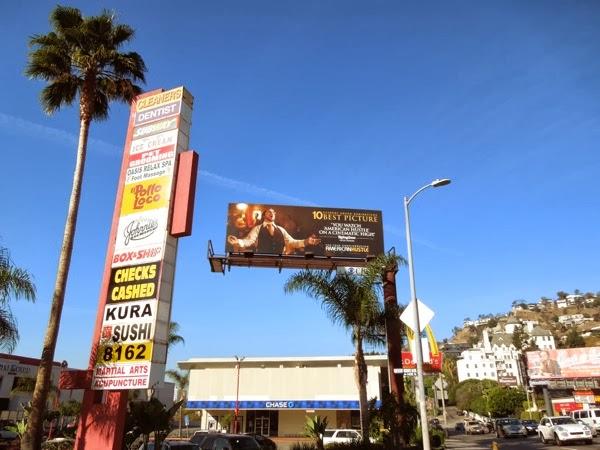 American Hustle Oscar billboard