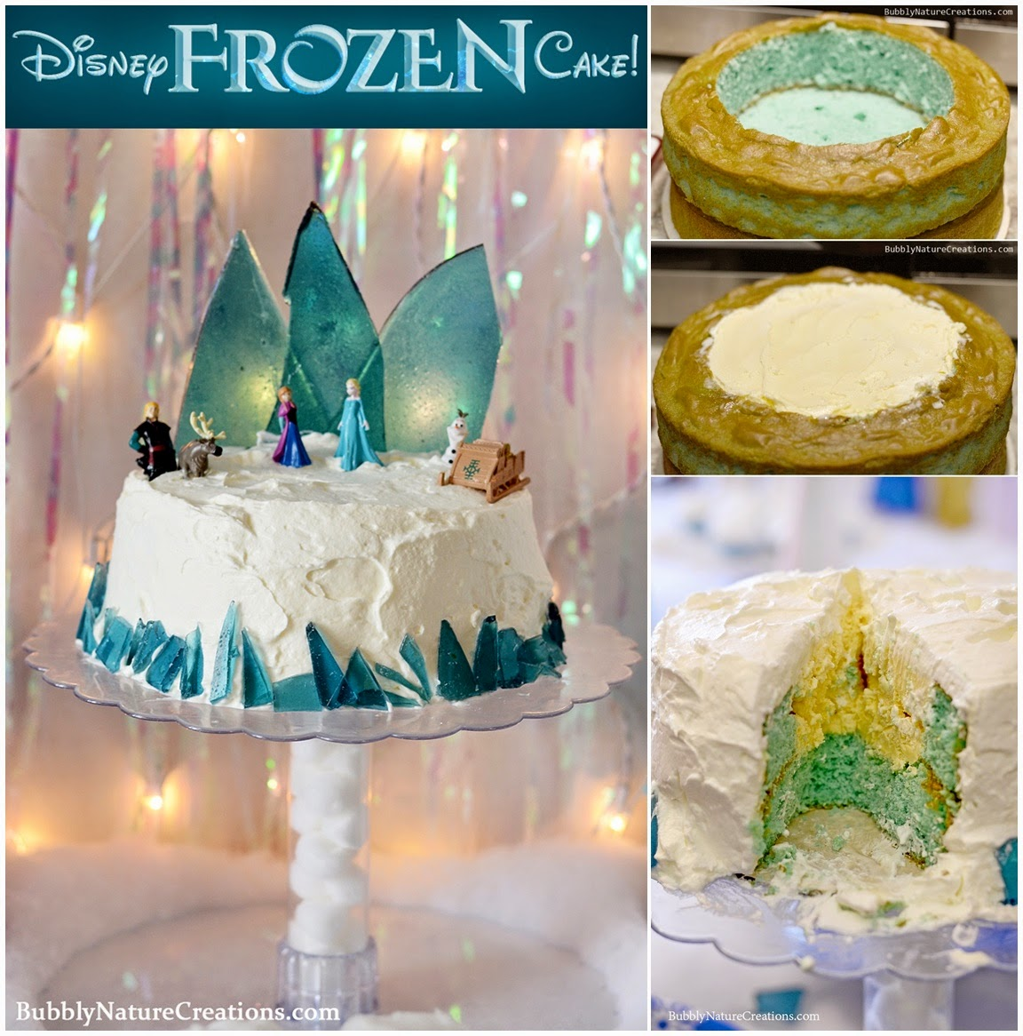Disney Frozen Cake -- Ice Cream Cake