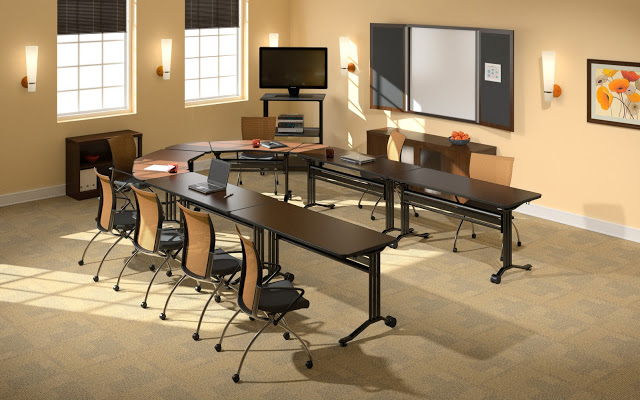 The office furniture blog at training for Training room design layout