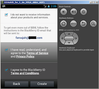 BBM for Android di Emulator Android