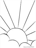 Mewarnai Gambar Matahari Terbit