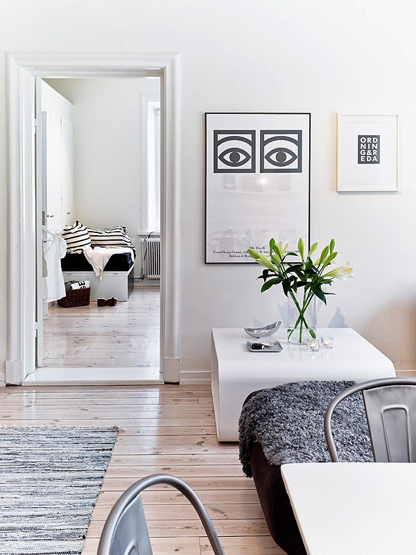 black and white nordic style