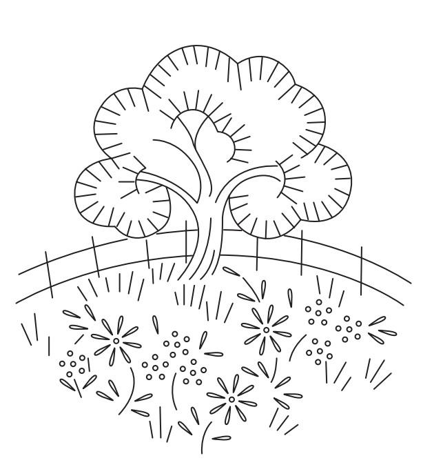 Riscos florais para bordados