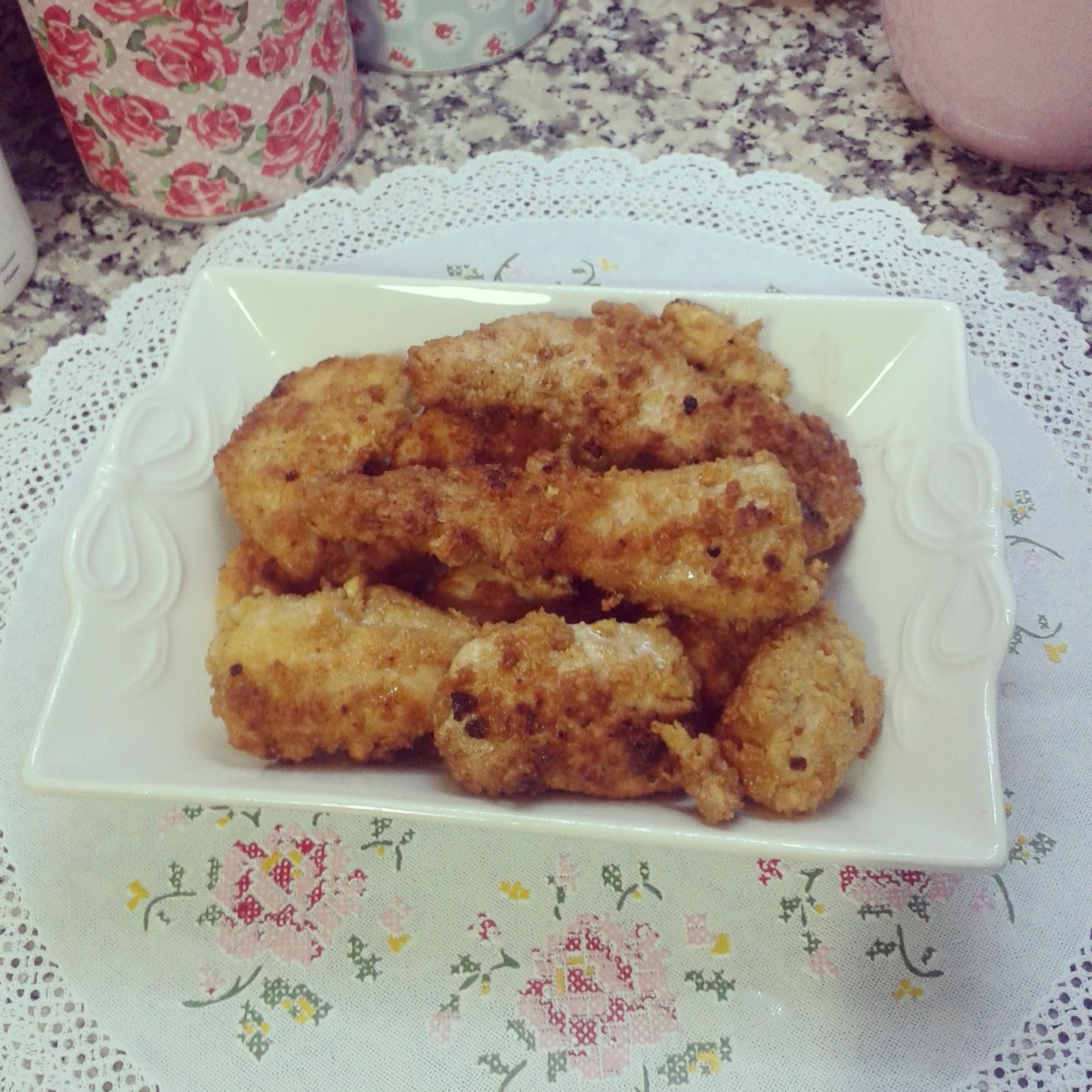 Pirinç Çubuklu Pane Tavuk