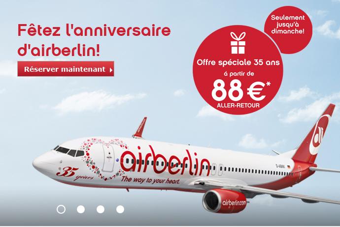 Air Berlin anniversaire
