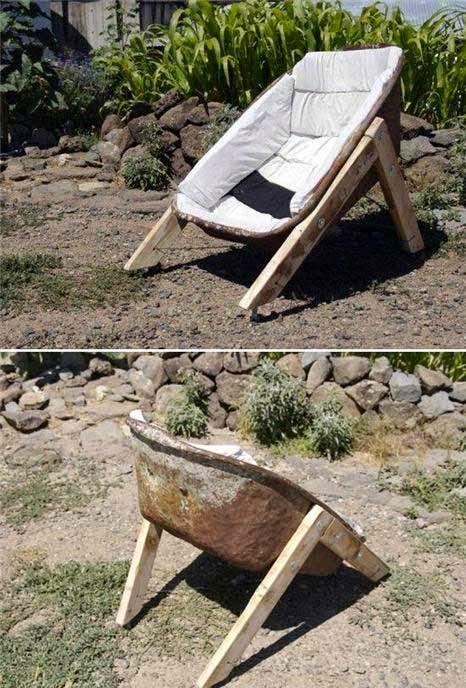 Exemple de fauteuil coque trash