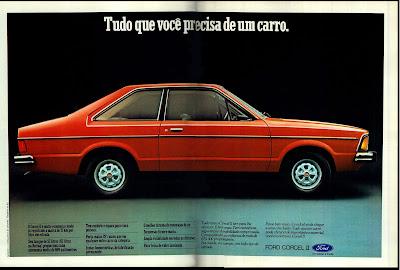 propaganda Ford Corcel II - 1978.  reclame de carros anos 70. brazilian advertising cars in the 70. os anos 70. história da década de 70; Brazil in the 70s; propaganda carros anos 70; Oswaldo Hernandez;