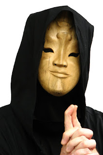 man in strange wooden mask; taken by: Benjamin Miller; source: freestockphotos.biz