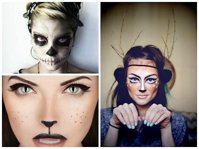 halloween makeup deer skull cat last minute idea for Halloween
