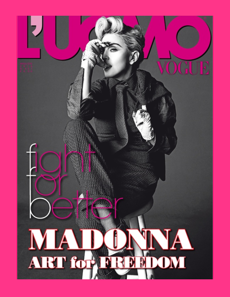 Madonna by Tom Munro for L'Uomo Vogue