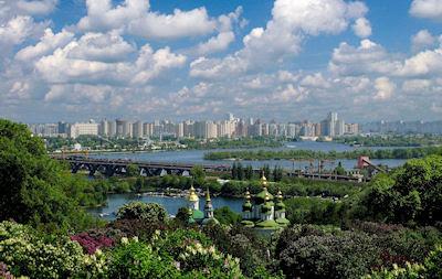 Ciudad de Kiev, Rusia. Panorámicas y Postales de Europa.