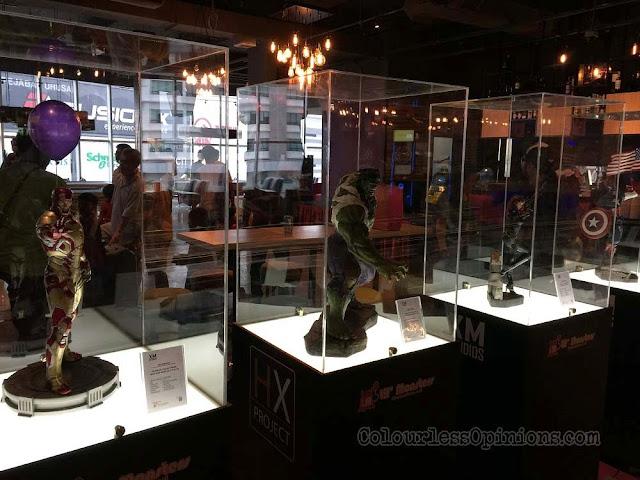 TGV Superhero Bash marvel avengers toys figurines display