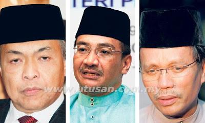 Datuk Seri Dr. Ahmad Zahid Hamidi, Datuk Seri Hishammuddin Tun Hussein dan Datuk Seri Mohd. Shafie Apdal