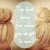 3 different top knot buns tutorial