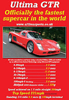 Ultima GTR Race Car Flyer Specs